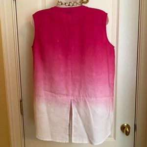 Pure Amici Tops - Pink Sleeveless Top AMICI Linen